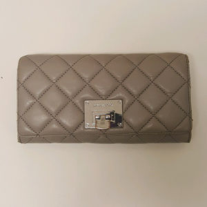 Michael Kors Grey Quilted Leather Astrid Wallet